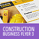 Construction Business Flyer 3 - Letter + A4 - GraphicRiver Item for Sale