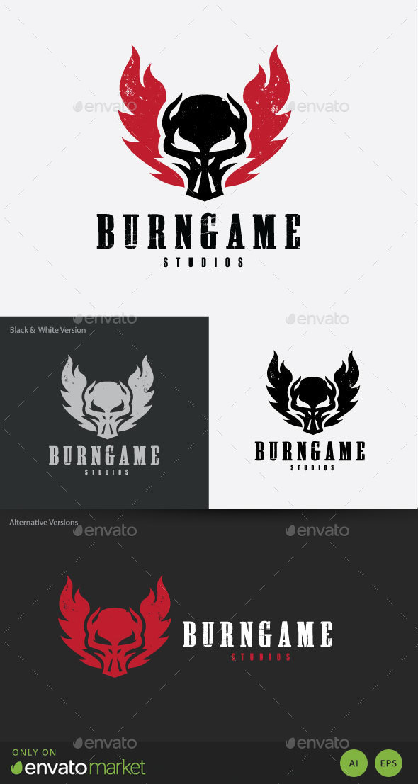Burn Game Logo - Humans Logo Templates