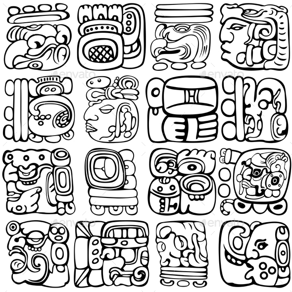 Mayan Glyphs - Miscellaneous Characters