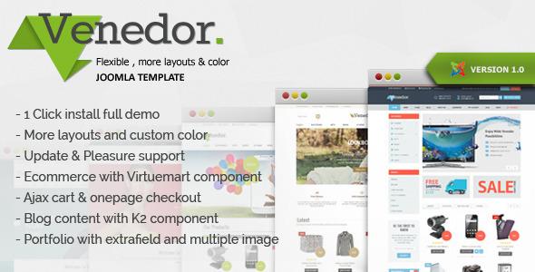 Venedor - Clean & Modern Virtuemart Joomla Template