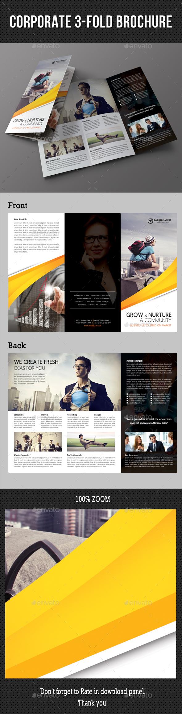 Corporate 3-Fold Brochure 33 - Corporate Brochures