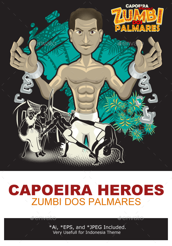 Capoeira Heroes Zumbi Dos Palmares - People Characters