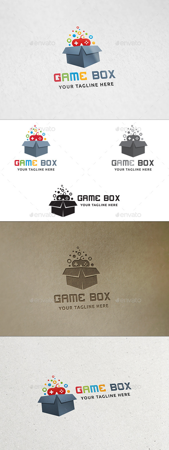 Game Box Logo - Objects Logo Templates