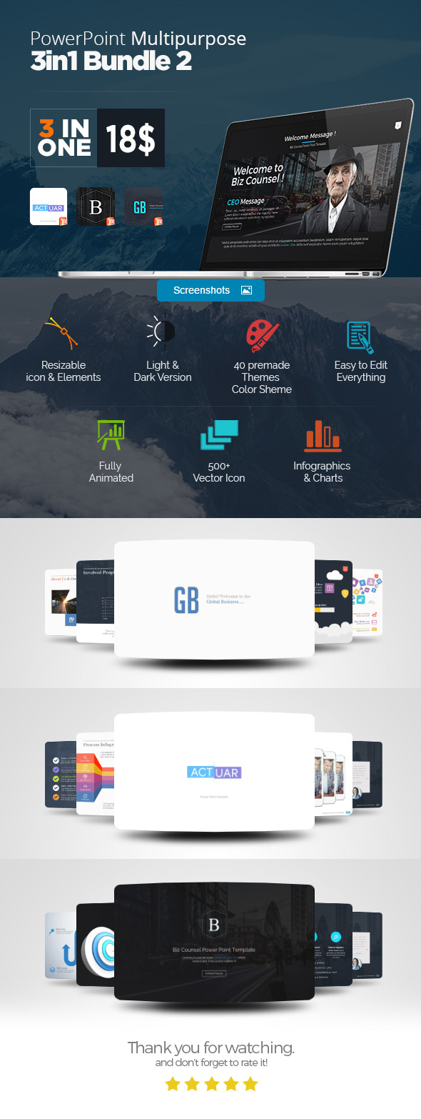 Power Point 3 In One Bundle 2  - Business PowerPoint Templates