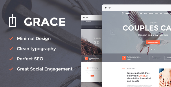 Grace - Church & Religion WordPress Theme - Churches Nonprofit
