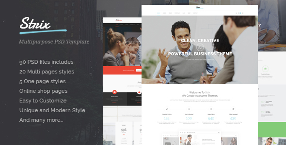STRIX – Multipurpose PSD Template