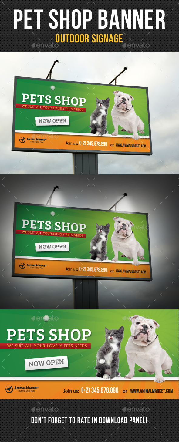 Pet Shop Outdoor Banner