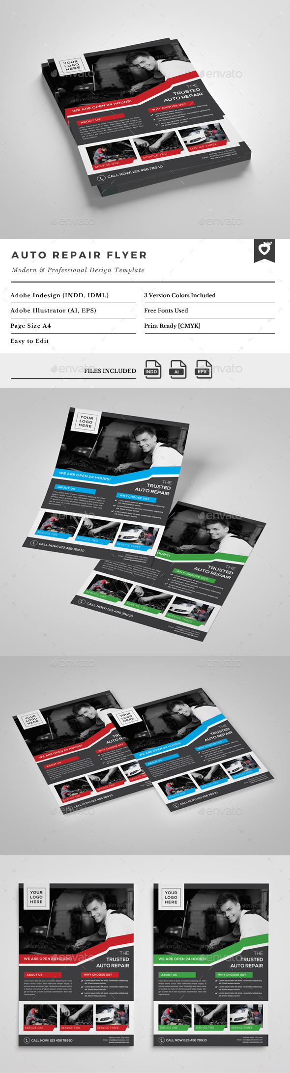 Auto Repair Flyer - Commerce Flyers