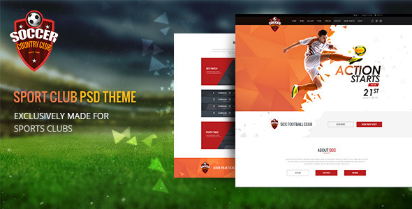 Soccer Club | Multipurpose PSD Template - Business Corporate