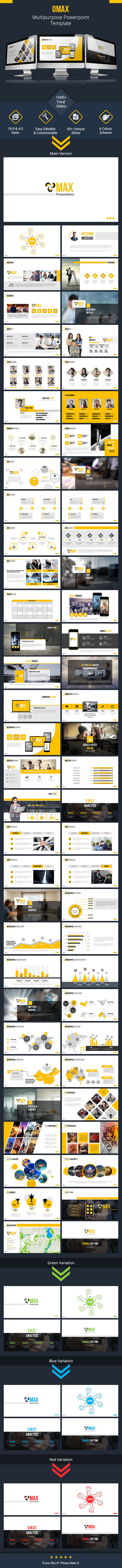 Omax Powerpoint Presentation Template - Business PowerPoint Templates