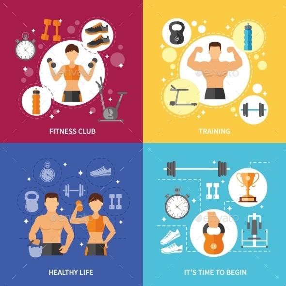 Fitness Club Healthy Life Concept - Sports/Activity Conceptual