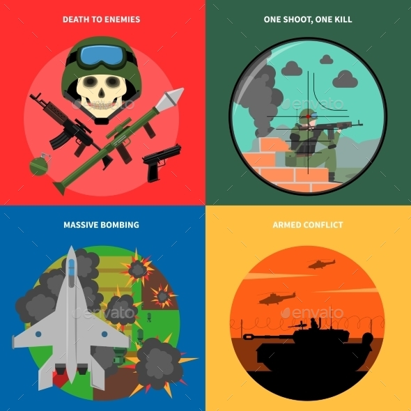 War Icons Set  - Miscellaneous Vectors