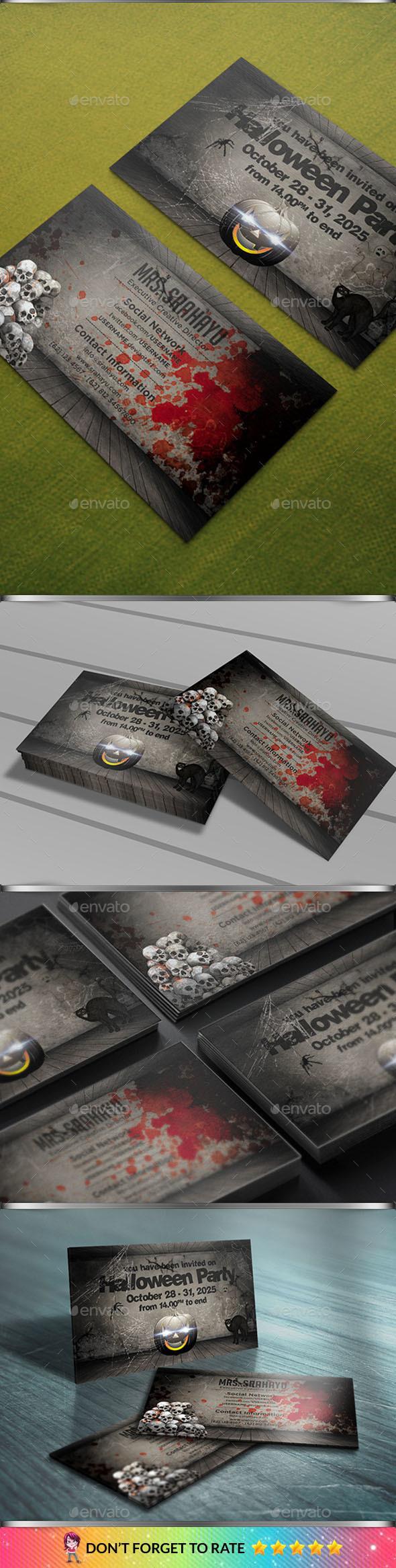 Halloween Invitation Card - Invitations Cards & Invites