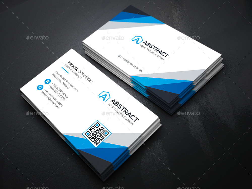 Abstract Corporate Business Card by generousart | GraphicRiver