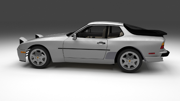 Porsche 944 S2 with interior - 3DOcean Item for Sale