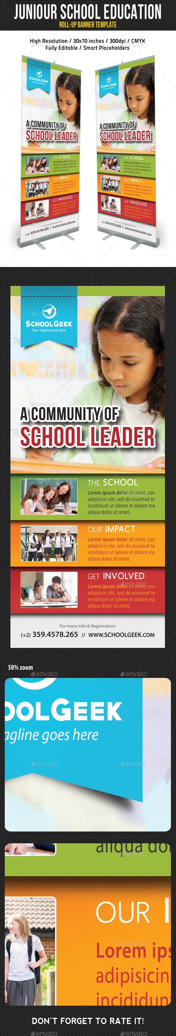 School Education Roll-Up Banner