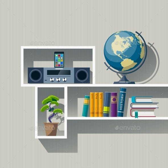 Bookshelf  - Miscellaneous Vectors