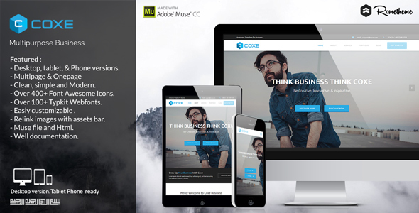 COXE – Corporate Multipurpose Muse Template