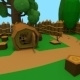 Low Poly Wood Fortress - 3DOcean Item for Sale
