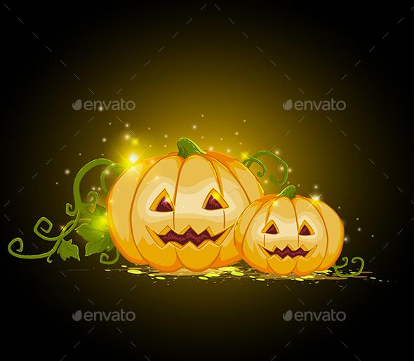 Two Pumpkins - Halloween Seasons/Holidays