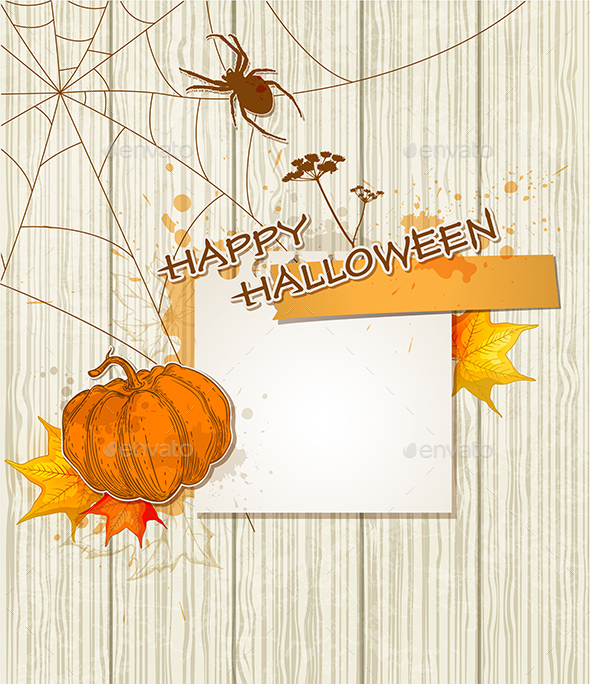 Background with Spider - Halloween Seasons/Holidays
