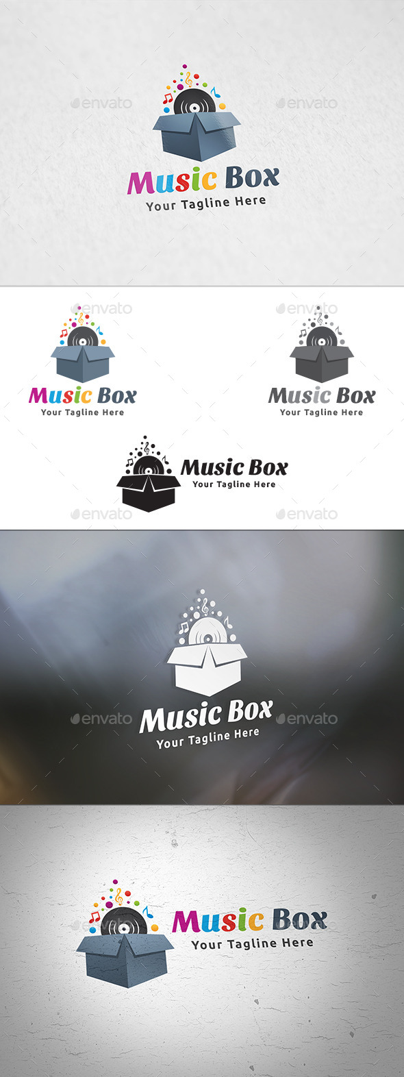 Music Box Logo - Symbols Logo Templates