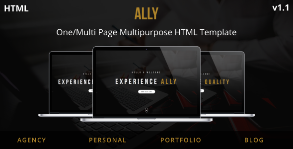 Ally - One/Multi Page Multipurpose HTML Template - Creative Site Templates