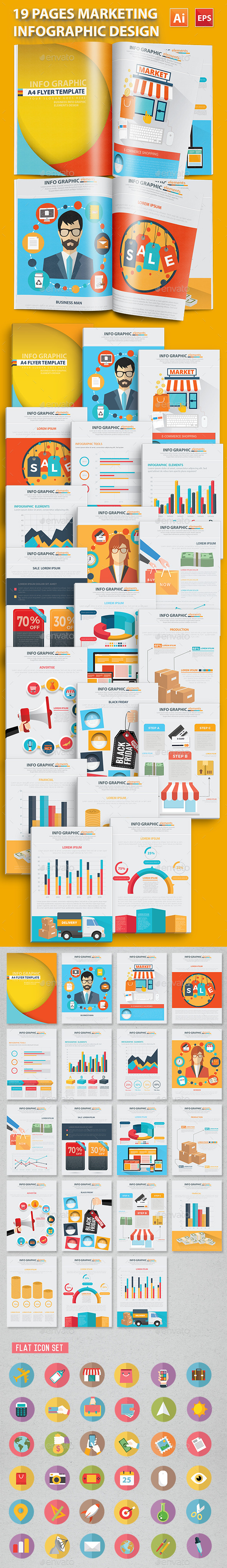 Marketing Infographics 19 Pages Design - Infographics