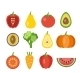 Vegetables And Fruits Icons - GraphicRiver Item for Sale