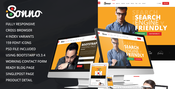 Image of Sonno - Multi purpose bootstrap landing page