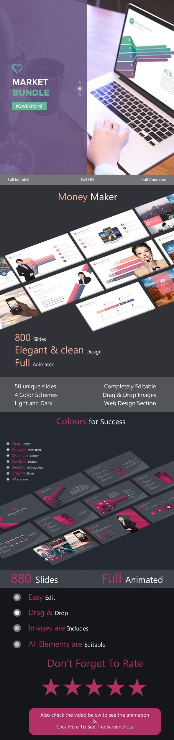 Market Bundle - PowerPoint Templates Presentation Templates