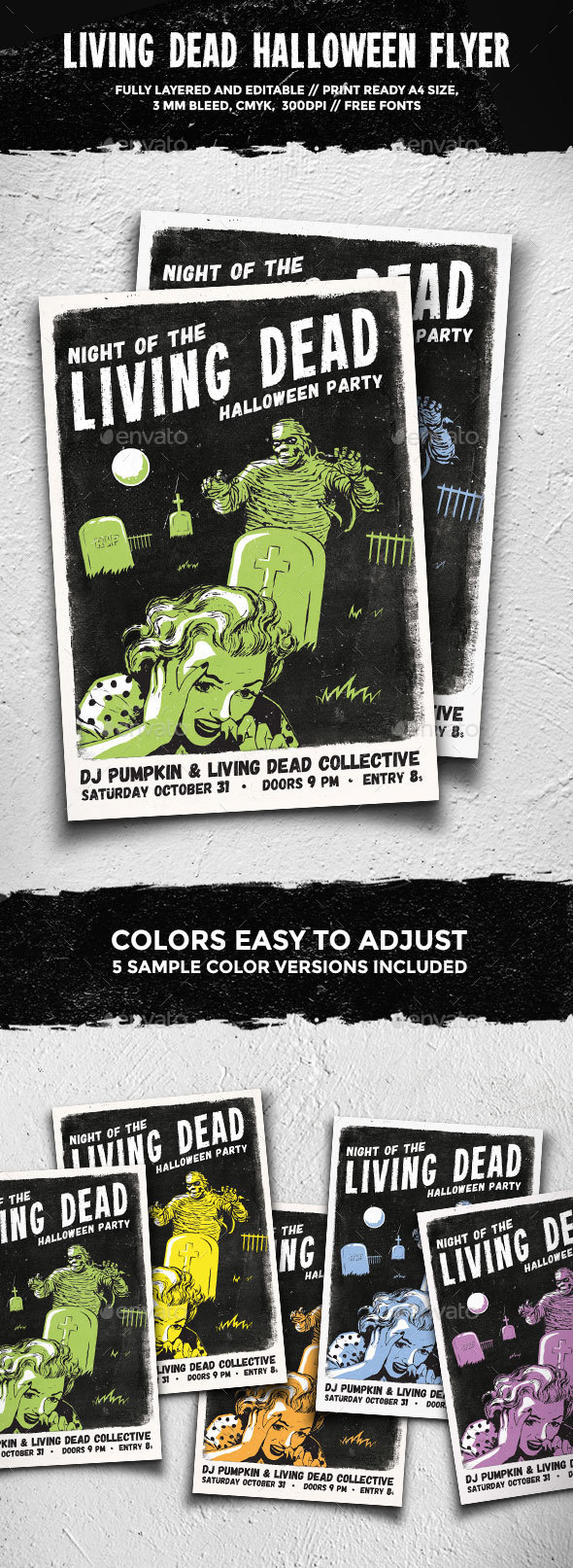 Living Dead Halloween Flyer