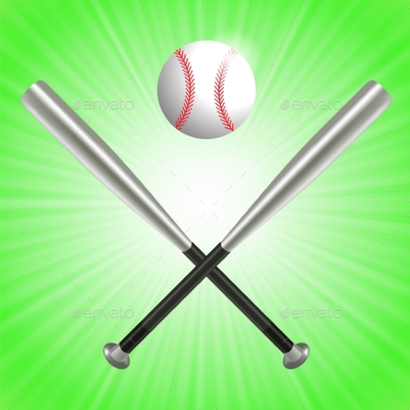 Baseball Bat And Ball - Sports/Activity Conceptual