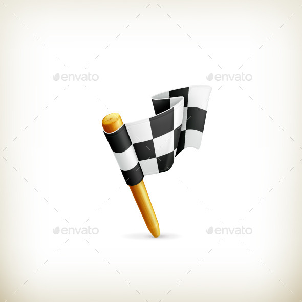 Checkered Flag Icon - Man-made Objects Objects