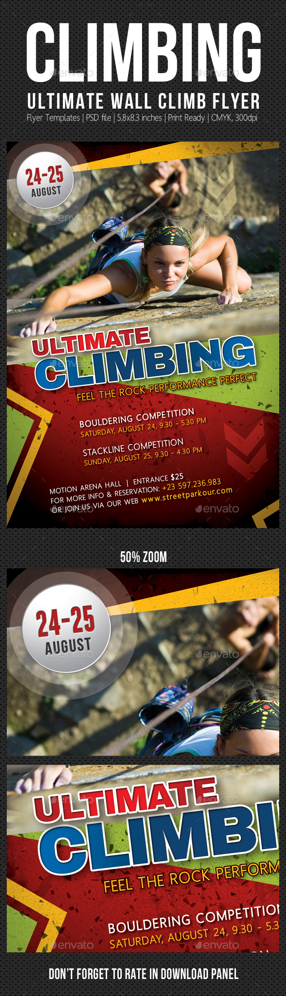 Climbing Sport Activity Flyer - Sports Events