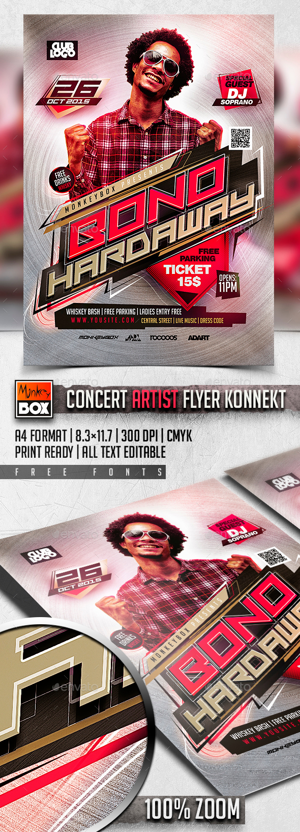 Concert Artist Flyer Konnekt - Events Flyers