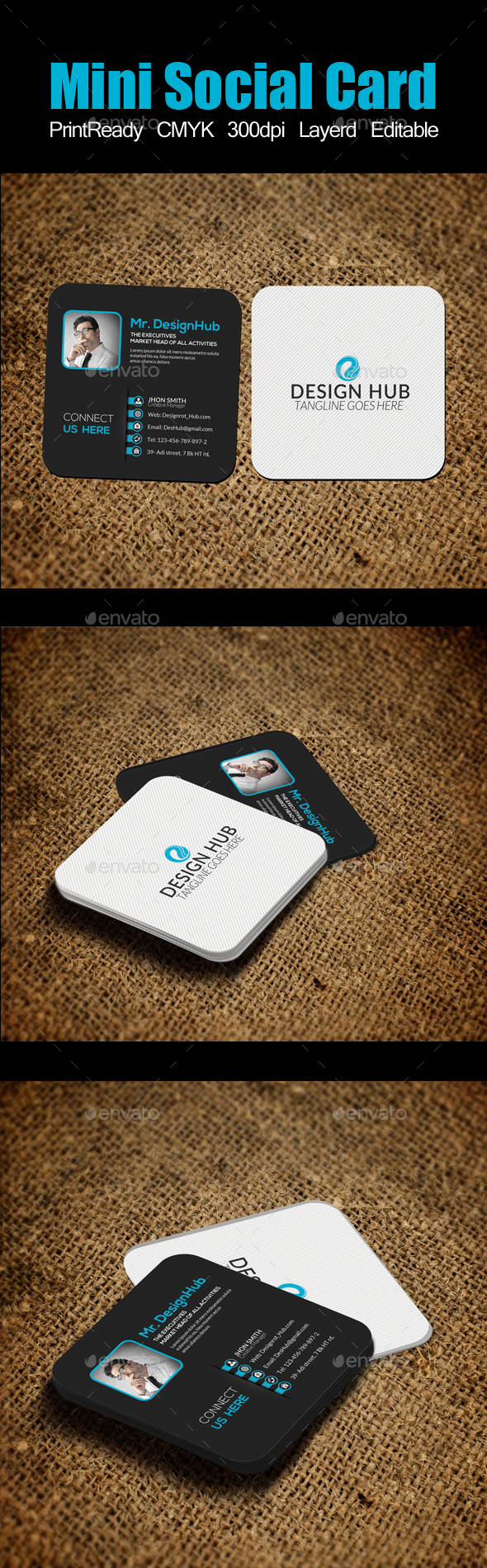 Mini Social Card Template