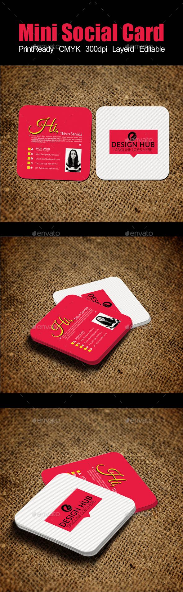 Mini Social Card Template