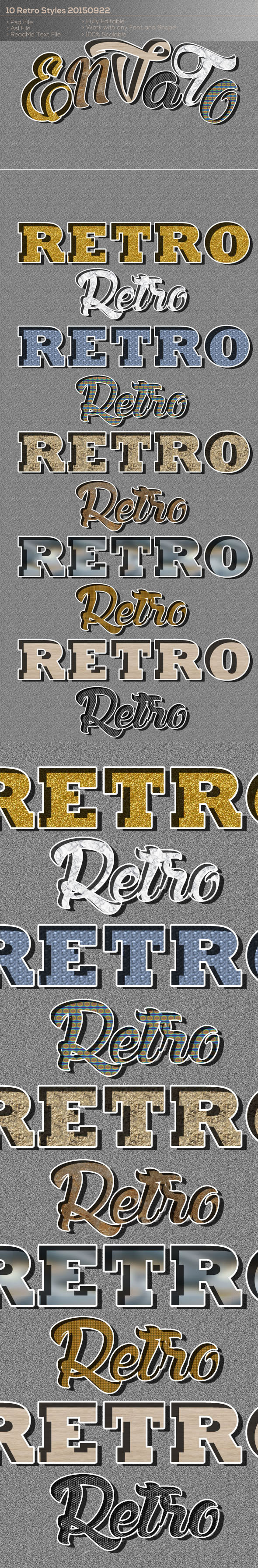10 Retro Styles 20150922 - Text Effects Styles