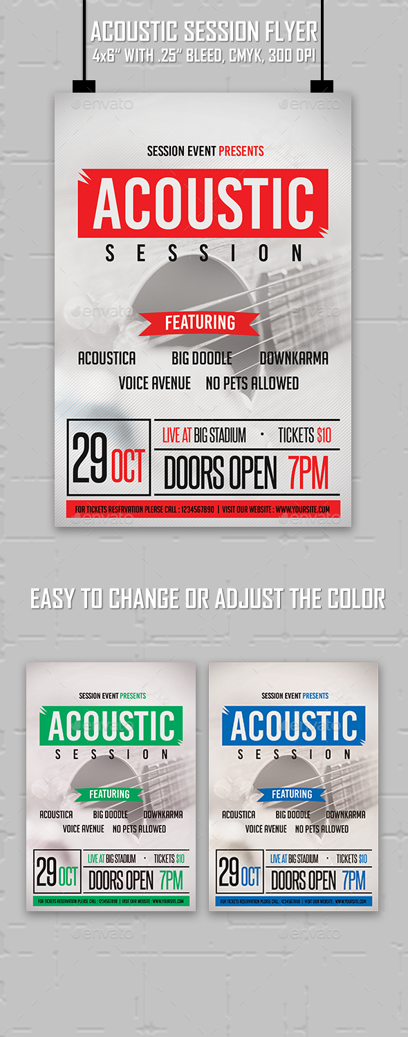 Acoustic Session Flyer