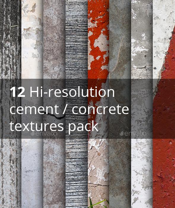 12 Hi-res cement concrete textures