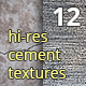 12 Hi-res cement / concrete textures - GraphicRiver Item for Sale