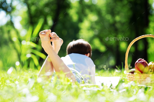 Boy in park - Stock Photo - Images