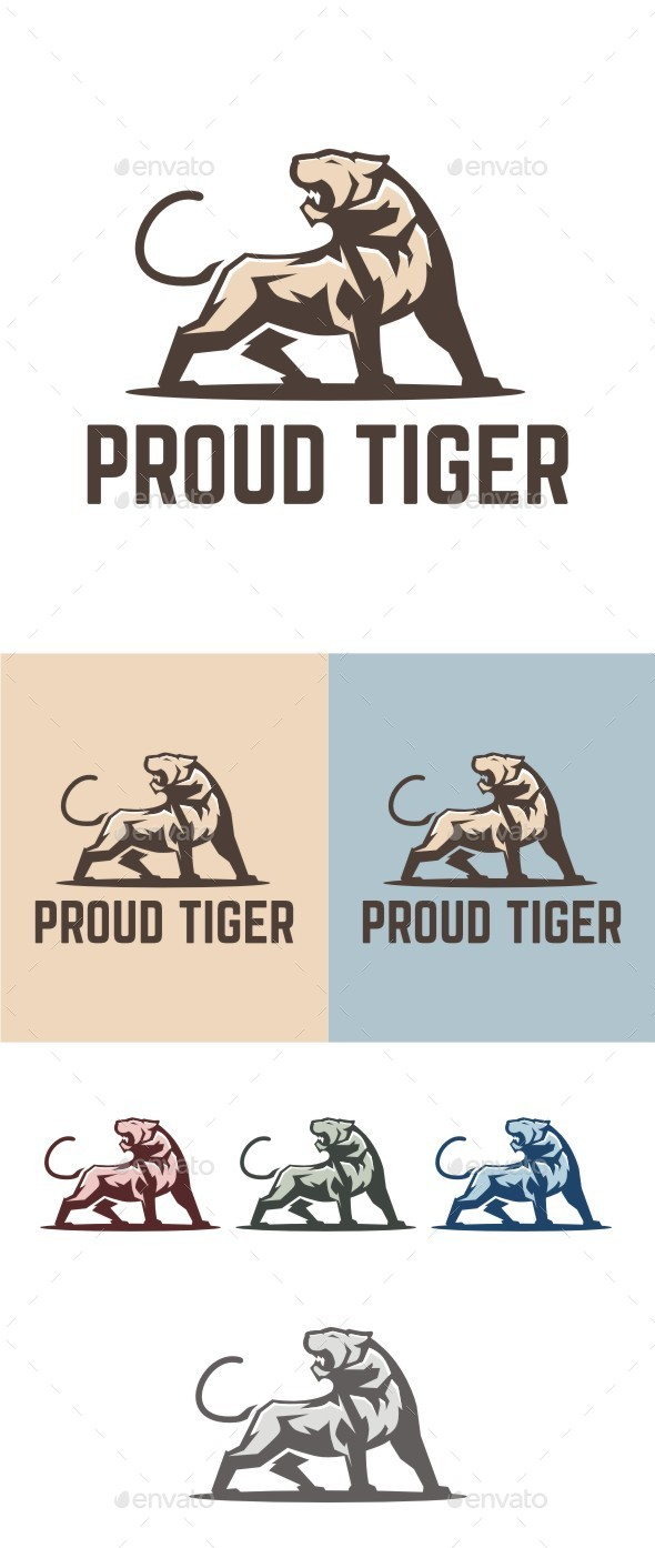 Proud Tiger - Animals Logo Templates
