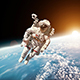 Astronaut In Outer Space - VideoHive Item for Sale