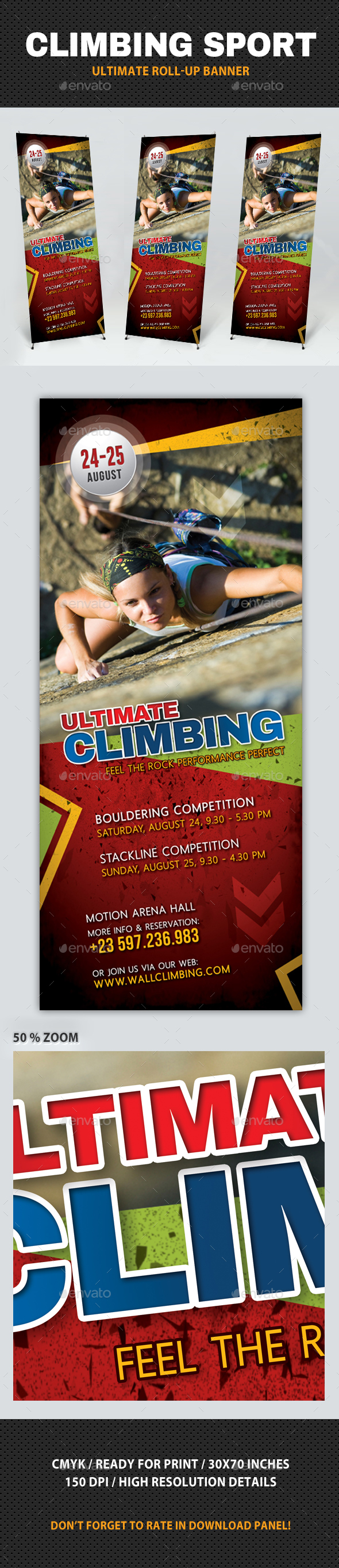 Climbing Sport Activity Banner - Signage Print Templates