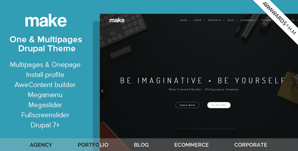 Make – Multipurpose One/Multipage Drupal Theme