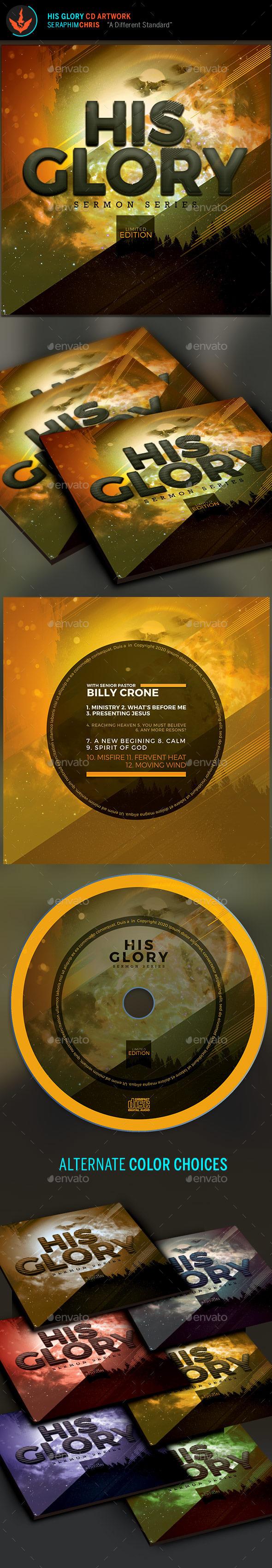 His Glory: CD Artwork Template - CD & DVD Artwork Print Templates