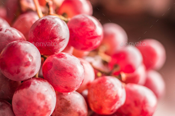 The grapes of the picture blurred - Stock Photo - Images