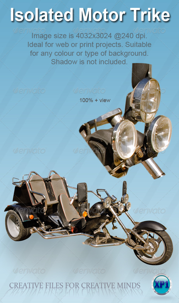 Isolated Motor Trike/Bike - Miscellaneous Isolated Objects